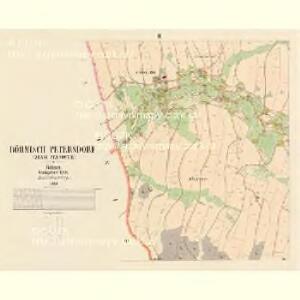Böhmisch Petersdorf (Czeski Petrowice) - c0975-1-003 - Kaiserpflichtexemplar der Landkarten des stabilen Katasters