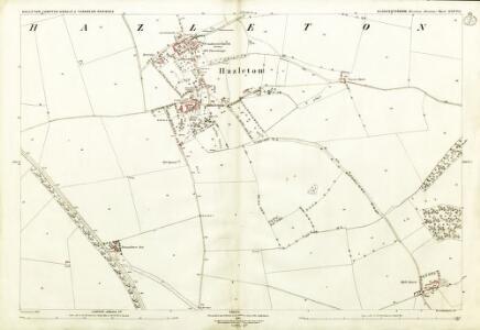 Gloucestershire XXXVI.1 (includes: Compton Abdale; Haselton; Turkdean) - 25 Inch Map