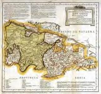 Mapa geografico que comprehende el partido de Santo Domingo de la Calzada y el de Logroño, correspondientes a la provincia de Burgos
