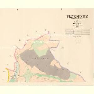 Przedenitz (Předenice) - c6165-1-001 - Kaiserpflichtexemplar der Landkarten des stabilen Katasters