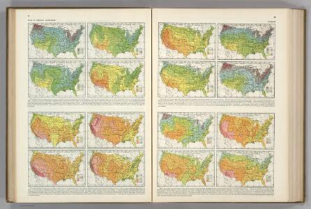 Average Number of Hours of Sunshine ... Average per cent Actual Sunshine....  Atlas of American Agriculture.