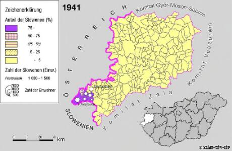 Slowenen im Komitat Vas 1941