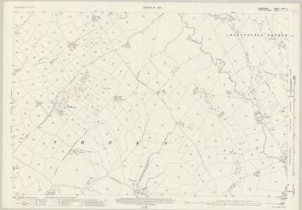 Derbyshire XXVII.11 (includes: Hartington Middle Quarter; Hartington Town Quarter; Sheen) - 25 Inch Map
