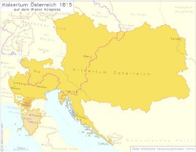 Kaisertum Österreich 1815 auf dem Wiener Kongress