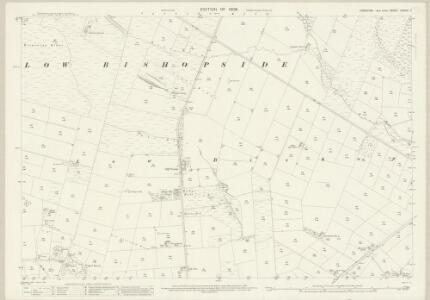 Yorkshire CXXXVI.1 (includes: High And Low Bishopside) - 25 Inch Map
