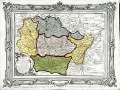 Carte des départemens de la Meuse, de la Moselle, de la Meurte, des Vôges, et du Bas Rhin
