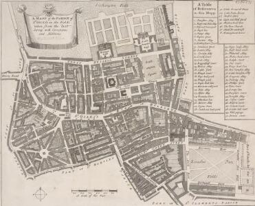 A MAPP of the PARISH of ST GILES'S in the Fields taken from the last Servey, with Corrections and Additions 1-A