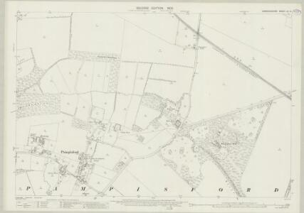 Cambridgeshire LIV.12 (includes: Babraham; Pampisford; Sawston) - 25 Inch Map