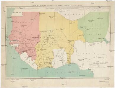 Carte des fuseaux horaires de l'Afrique occidentale française