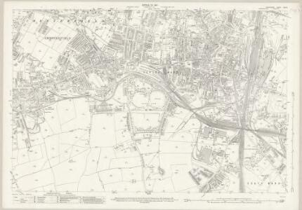 Derbyshire XXV.6 (includes: Chesterfield) - 25 Inch Map