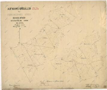 Záměrná mapa lesního polesí Býkov - část Chotiná
