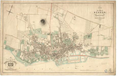 Plan of the town of Dundee, with the improvements now in progress.