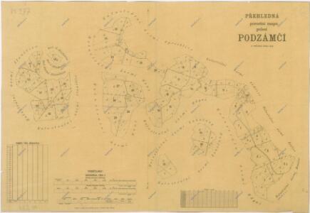 Porostní mapa revíru Podzámčí