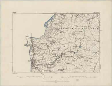 Derbyshire V.SE - OS Six-Inch Map