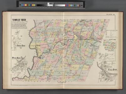 Monroe County, Double Page Plate No. 20  [Map of town of Rush, N. Rush, W. Rush, E. Rush]