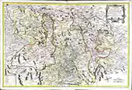 Carte de la province d'Auvergne ou sont les elections de Riom Clermont Issoire Brioude St. Flour et Aurillac