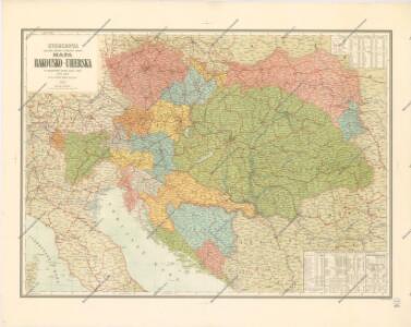 Storchova nejnovější politická a železniční cestovní mapa Rakousko – Uherska