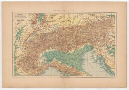 Carta delle Alpi / dir. G. Garollo ; Francesco Vallardi