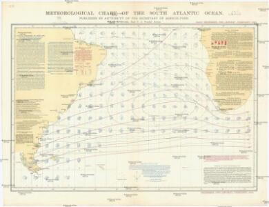 Meteorological chart of the South Atlantic Ocean