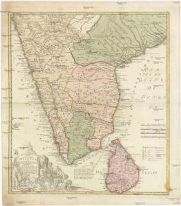 Peninsula INDIAE citra Gangem hoc est Orae celeberrimae MALABAR & COROMANDEL Cum adjacente Insula non minus celebratissima CEYLON