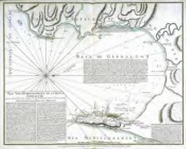 Plan topo-hydrographique de la baye de Gibraltar