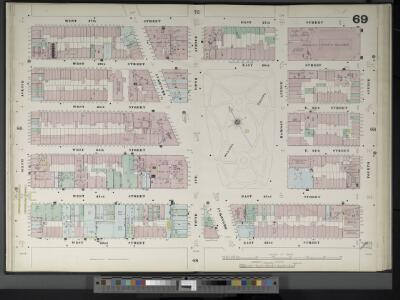 Manhattan, V. 4, Double Page Plate No. 69  [Map bounded by W. 27th St., E. 27th St., 4th Ave., E. 22nd St., W. 22nd St., 6th Ave.]