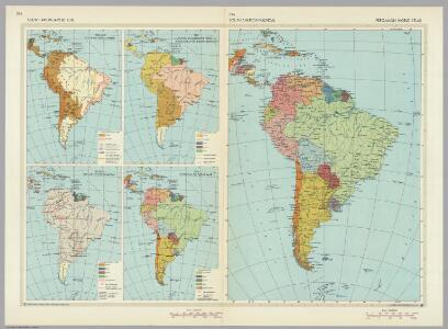 South America Political (and Historical).  Pergamon World Atlas.