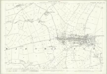 Gloucestershire LXXIII.16 (includes: Cold Ashton; Marshfield) - 25 Inch Map