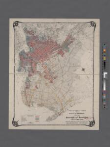 Map of the Borough of Brooklyn, City oh New York. Showing street  pavements other than cobble stone on January first, 1907.