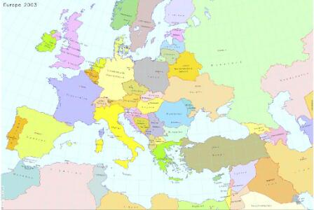 Europa 2003 [Blattschnitt bis zum Ural]