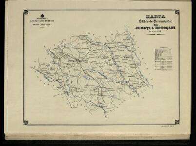 Harta Cailor de Comunicatie din Judetul Botosani
