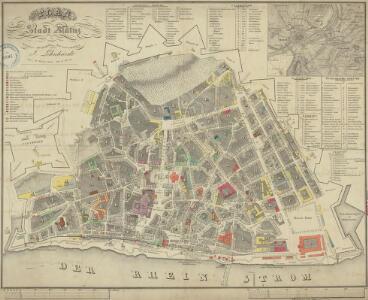 Plan der Stadt Mainz
