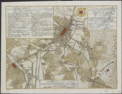 Kaart van de stad Utrecht en een zyde van de revier de Leck: met de batteryen retranchementen die door de burgers van Utrecht op orders van den Hr. Rhyn grave Von Salm buiten de stad en omleggende plaatsen in den jaare 1787 zyn opgeworpen