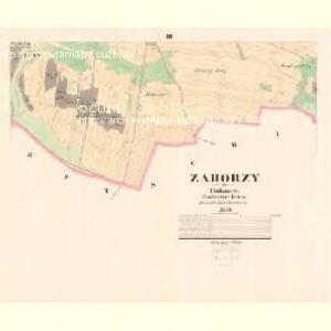 Zahorzy - c9059-1-003 - Kaiserpflichtexemplar der Landkarten des stabilen Katasters