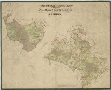 Přehledná mapa kultur velkostatku Kout-Trhanov