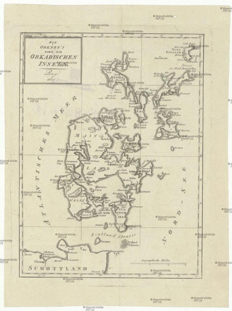 Die Orkneys Oder Die Orkadischen Inseln