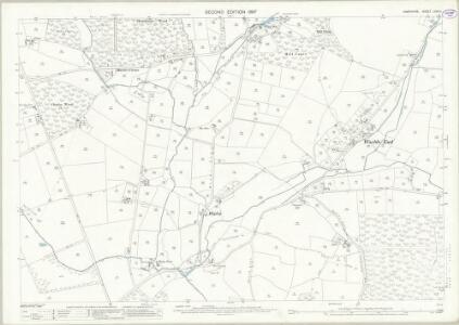 Hampshire and Isle of Wight LXVII.11 (includes: Boarhunt; Denmead; Soberton; Southwick and Widley) - 25 Inch Map