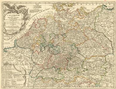 L'Allemagne Divisée en Havte et Basse, et par Cercles, Subdivisée en Etats Ecclesiastiques, Laiques et Villes Imperiales