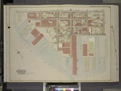 Brooklyn, Vol. 1, Double Page Plate No. 11; Part of   Ward 12, Section 2; [Map bounded by Dikeman St., Dwight St.; Including Eire      Basin, Upper Bay]