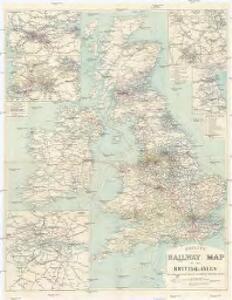 Philips' Railway Map of the British Isles