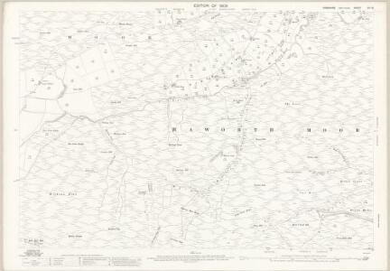 Yorkshire CC.13 (includes: Keighley; Wadsworth) - 25 Inch Map