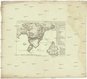 Plan de la ville de Corfu, assiegée par les Tures avec 35 000 hommes le 21 aoust. 1716 et extremement defendues par le general Schuytent