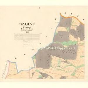 Rzimau - c6721-1-001 - Kaiserpflichtexemplar der Landkarten des stabilen Katasters