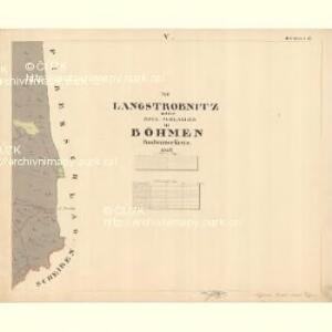 Langstrobnitz - c1135-1-005 - Kaiserpflichtexemplar der Landkarten des stabilen Katasters