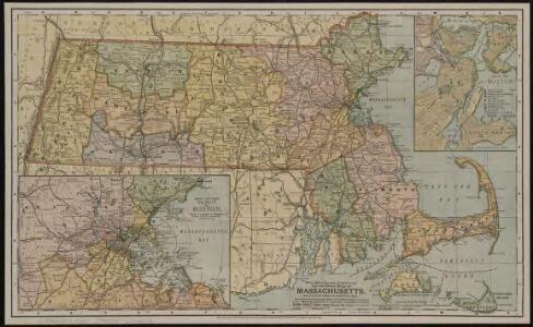 The Matthews-Northrup up-to-date map of Massachusetts