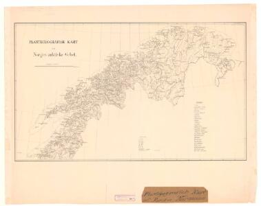 Spesielle kart nr 70a: Plantegeografisk kart over Norges arktiske Gebet