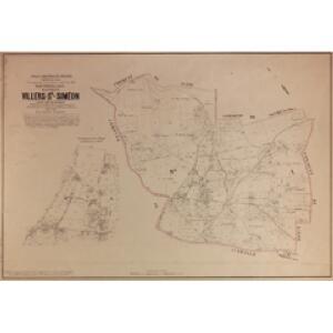 Plan parcellaire de la commune de Villers-St-Siméon : avec les mutations