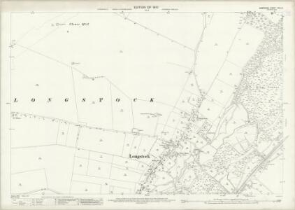 Hampshire and Isle of Wight XXXI.12 (includes: Leckford; Longstock) - 25 Inch Map