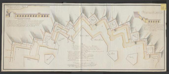 Plan van een gedeelte der buijten werken van Maastricht begreepen tusschen de Tongerse poort en bastion Holsteijn dienende tot aanwysinge der onder aardsche versterking, en wanneer en door wien deselve gemaakt zijn, zeederd den jaare 1771 tot en met den jaare 1774