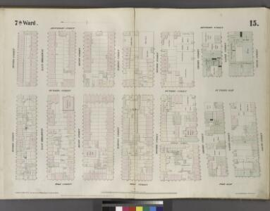 Plate 15: Map bounded by Division Street, Jefferson Street, South Street, Pike Slip, Pike Street.